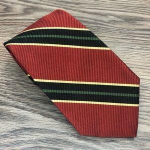 Robert Talbott Red, Navy, Green & Gold Stripe Tie